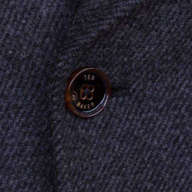 Mens Charcoal Biza Twill Wool Peacoat