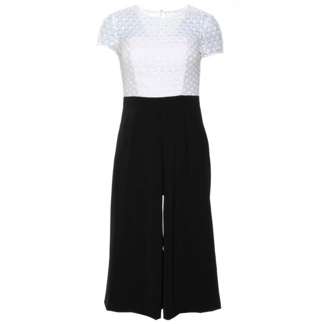 Womens White Brienaa Cropped Jumpsuit