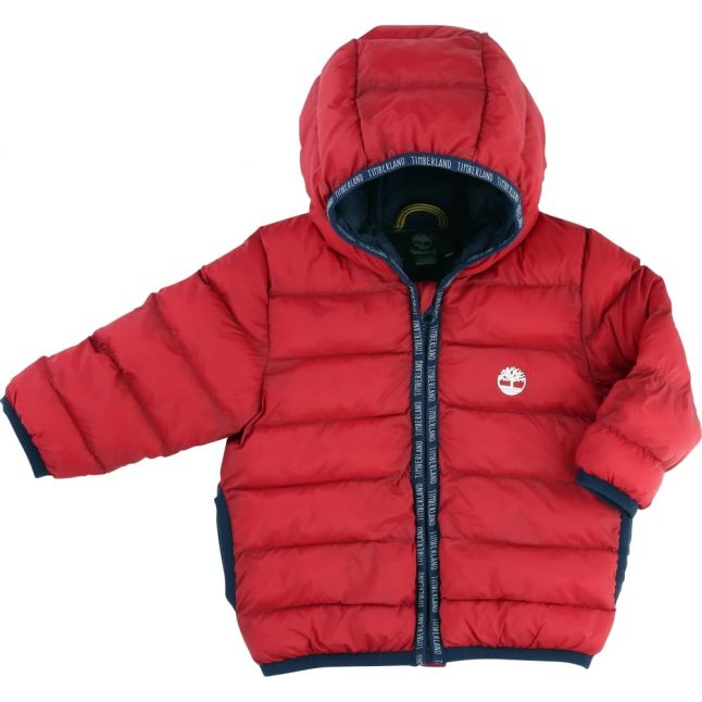 Baby Red Hooded Puffer Jacket