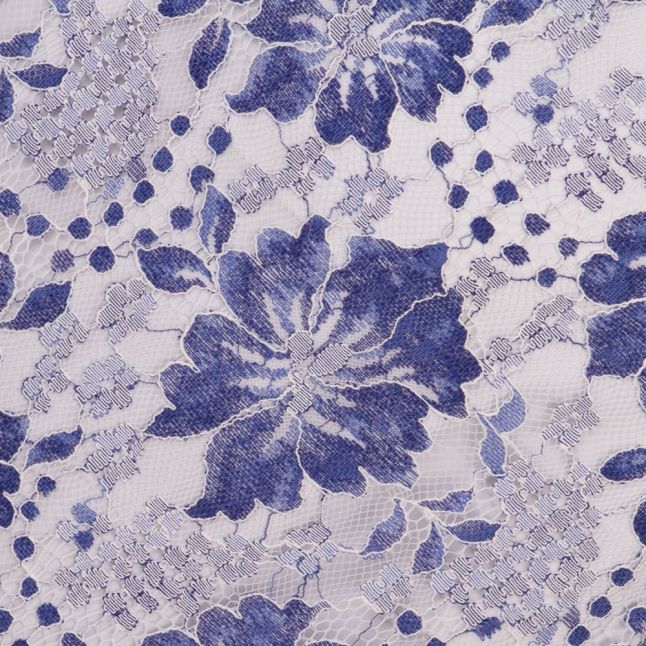 Wommes Meru Blue Antonia Lace Cold Shoulder Dress