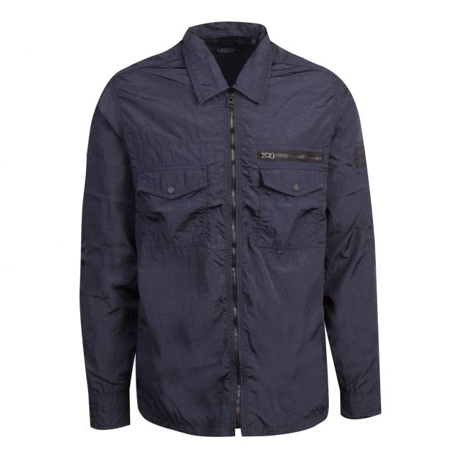 Casual Mens Navy Lovel-Zip_3 Overshirt