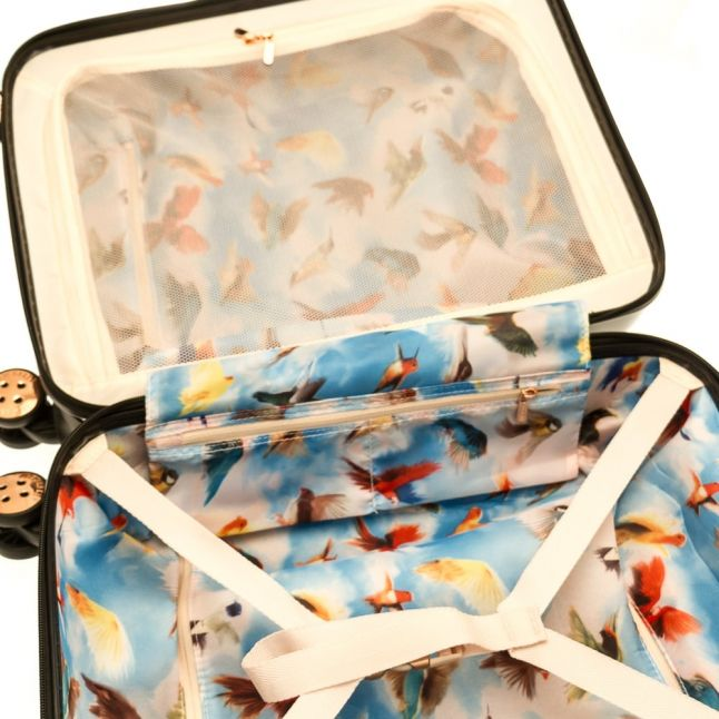 Womens Gem Gardens Printed Hardside Small Luggage Case