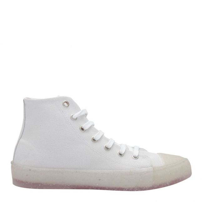 Womens White Recycled Hi Tops
