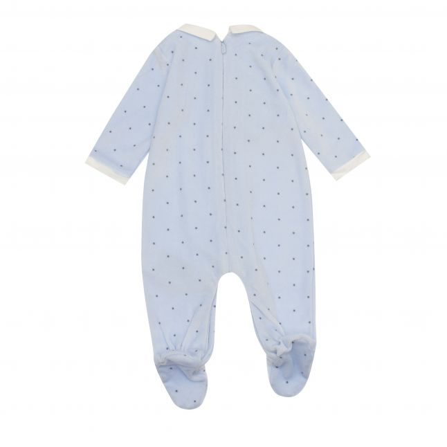 Mayoral Baby Sky Blue Soft Star Print Babygrow