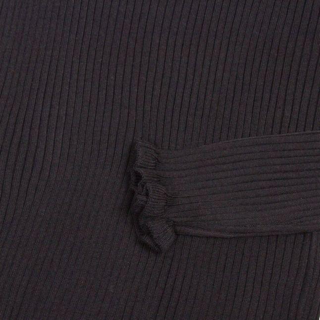 Womens Black Vigrade Frill High Neck Knitted Jumper