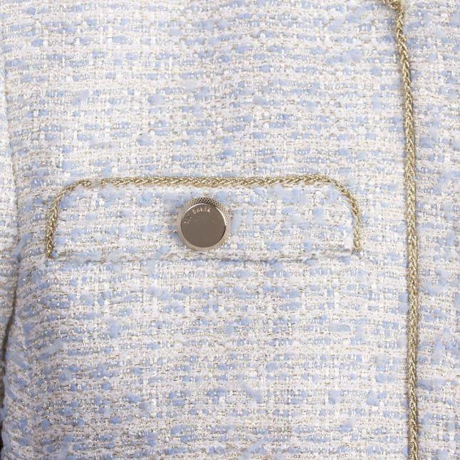 Womens Light Blue Bloss Boucle Jacket