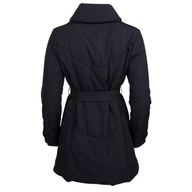 Womens Black Collar Puffer Coat