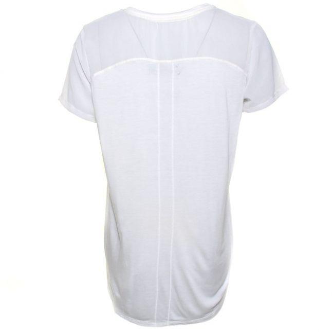 Womens Winter White Caution S/s Tee Shirt