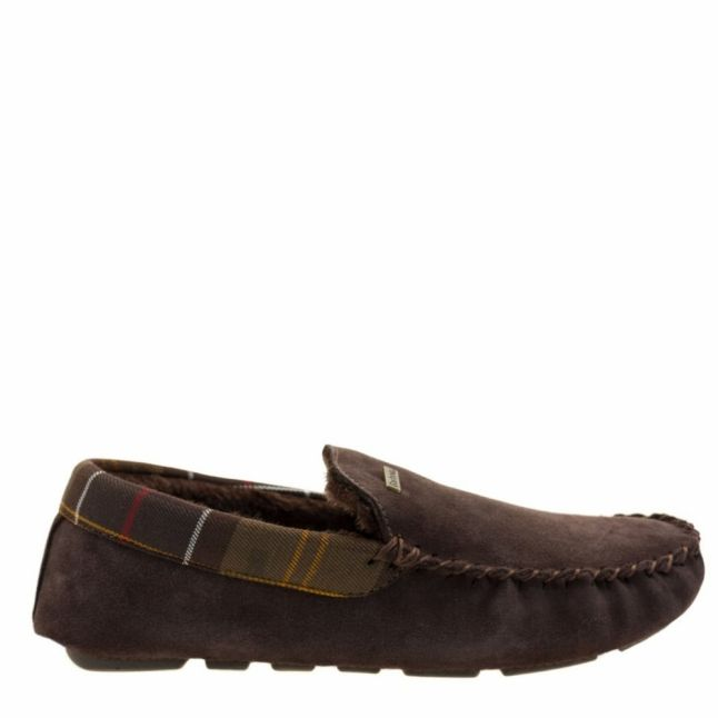 Mens Brown Monty Moccasin Slippers