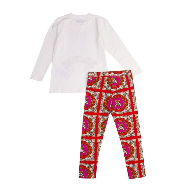 Moschino Girls Sweet Pink Toy Top & Leggings Set