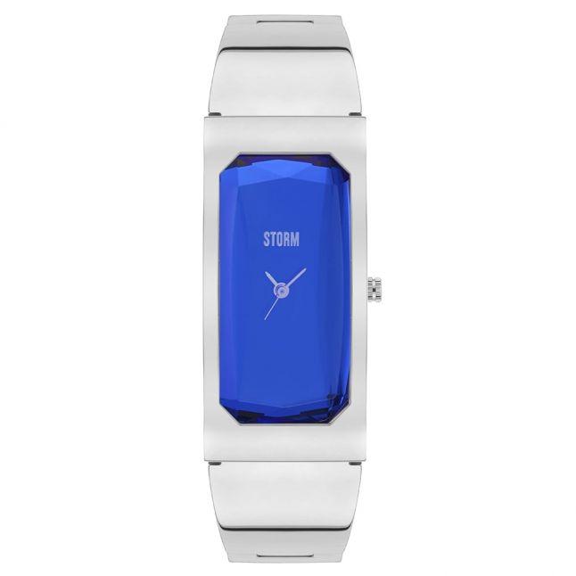 Womens Lazer Blue Dial Silver Trixie Watch