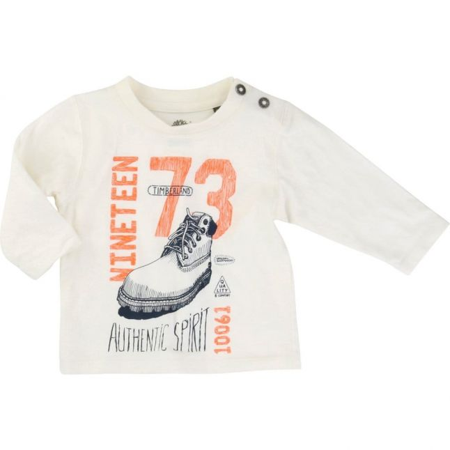 Baby Off White Boot L/s Tee Shirt