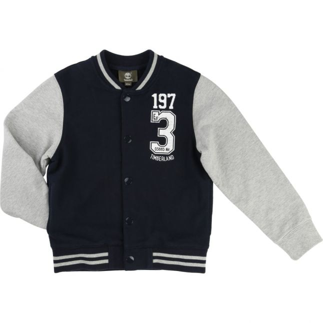 Boys Navy Varsity Jacket