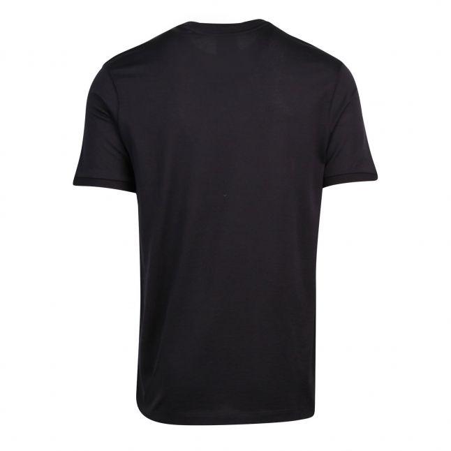 Mens Black Branded S/s T Shirt