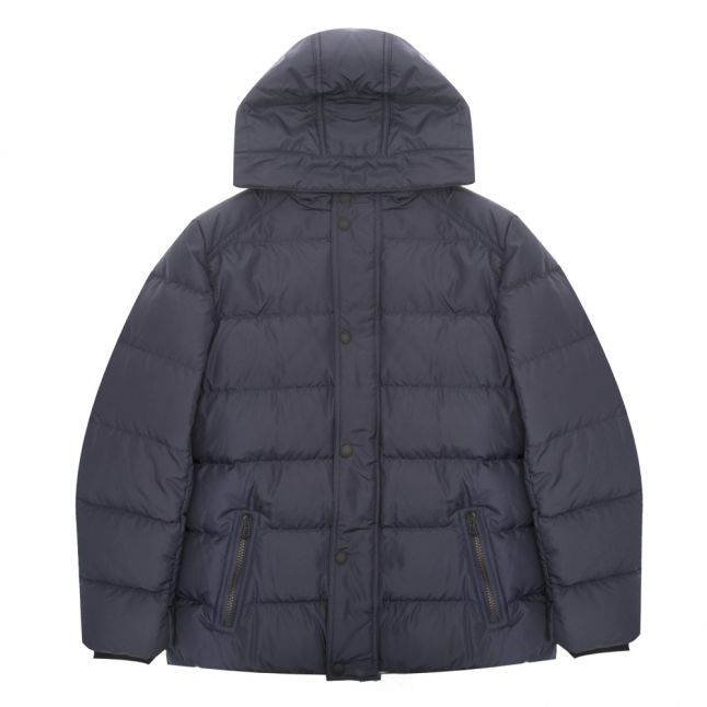 Boys Deep Navy Singer Padded Hooded Coat