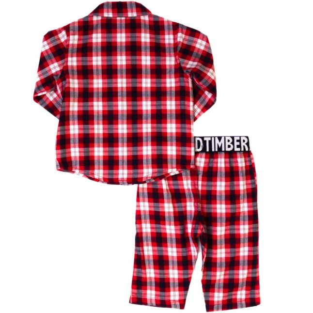 Baby Red Check Pyjama Set