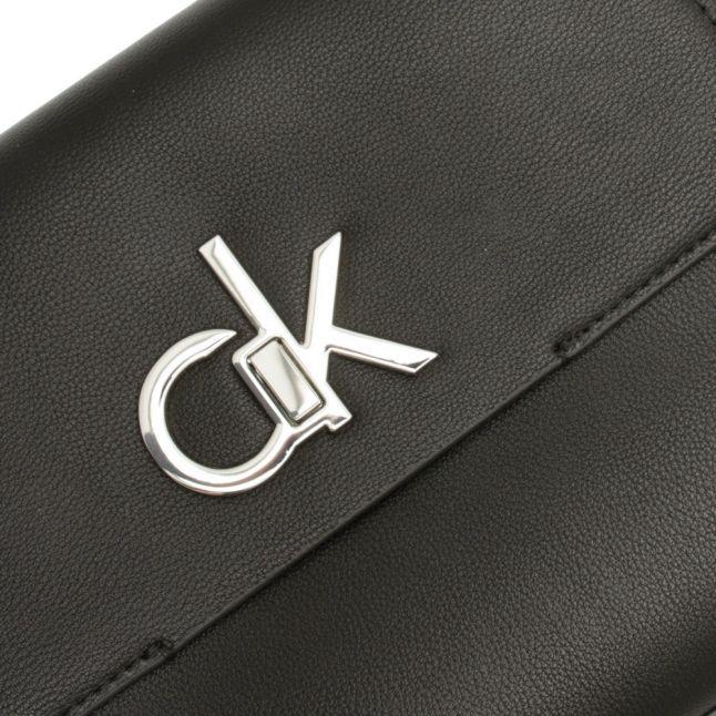 Womens Black Re-Lock Medium Crossbody Bag