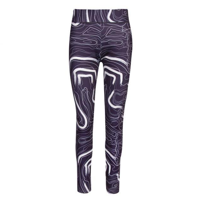Womens Dark Blue Normie Printed Leggings