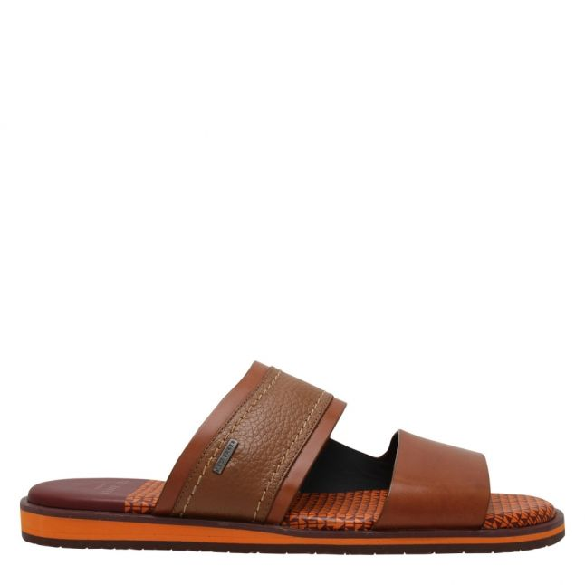 Mens Tan Farlex Leather Sandals