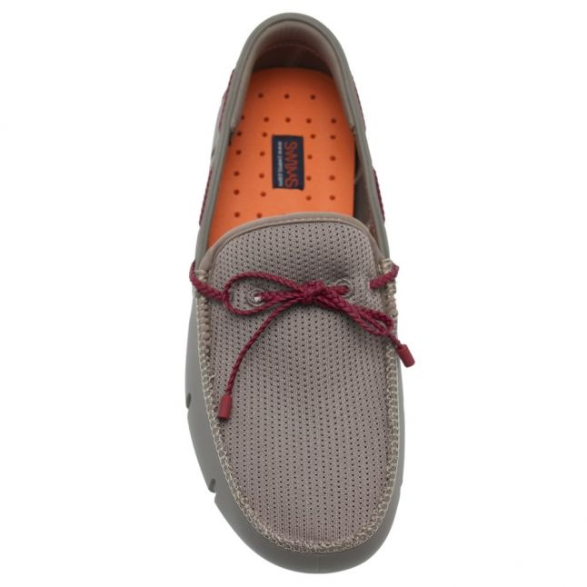 Mens Khaki Braided Lace Loafers
