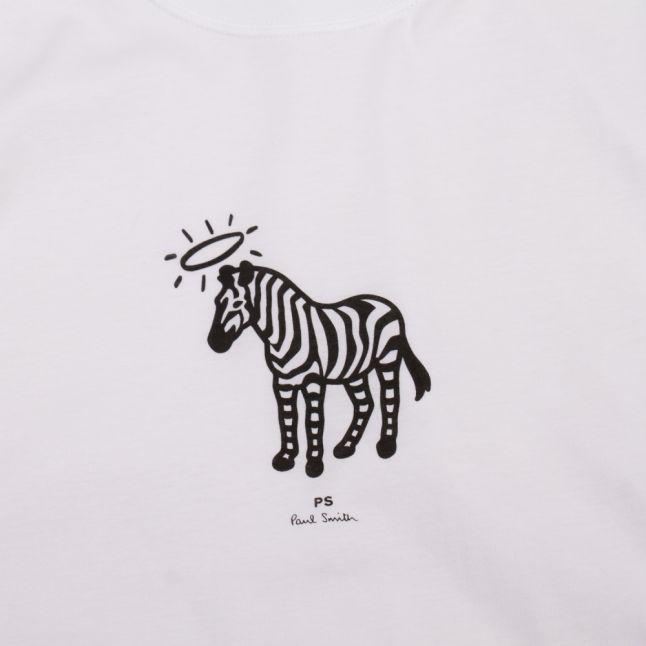 Mens White Halo Zebra S/s T Shirt