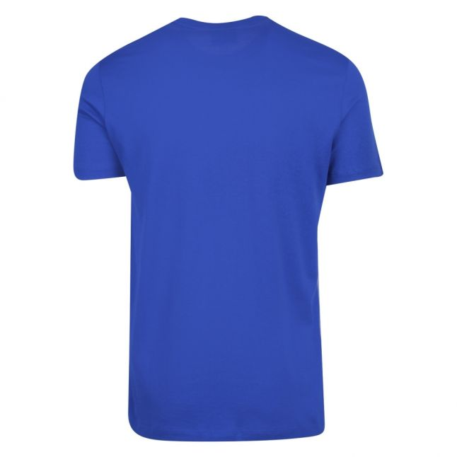 Mens Blue Small Logo S/s T Shirt