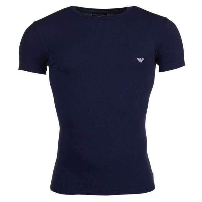 Mens Marine Shiny Logo Tee Shirt