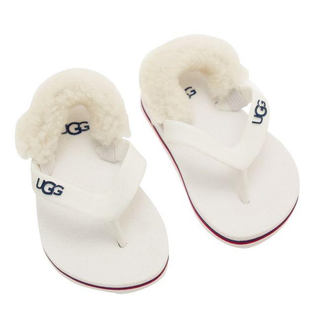 Infant White Wall Yia Yia II Flip Flops