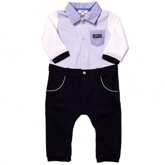 Boss Baby Pale Blue L/s Romper Suit
