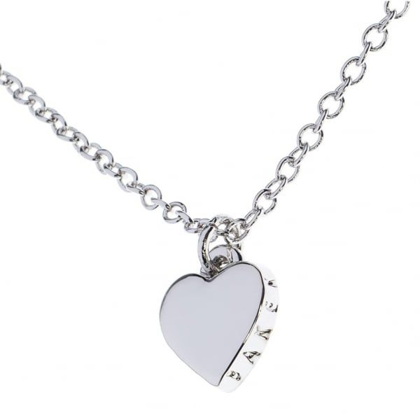 Womens Silver Hara Heart Pendant Necklace