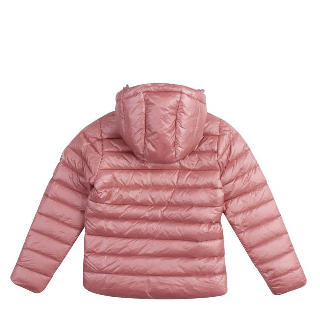 Girls Dragee Pink Spoutnic Shiny Hooded Jacket