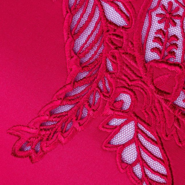 Womens Red Dollii Embroidered Cut Out Dress