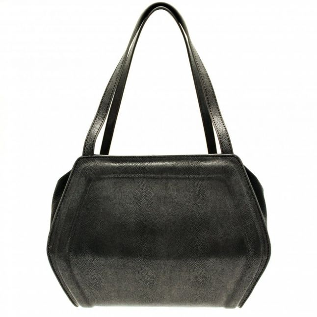 Womens Black Mottled Effect Tote Bag