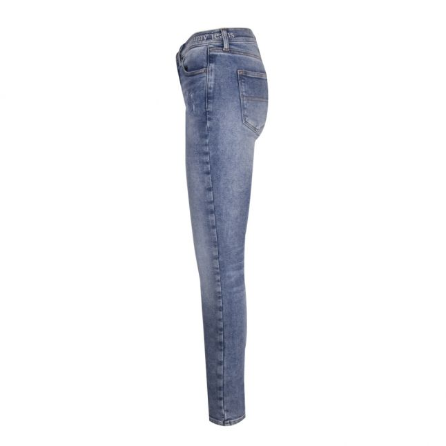 Womens Iowa Light Blue Mid Rise Nora Skinny Fit Jeans