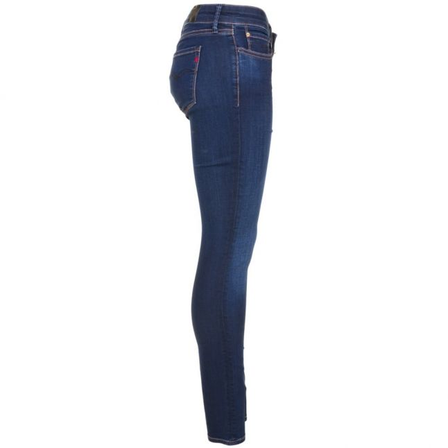 Womens Nearly Black Wash Luz Mid Rise Skinny Fit Jeans