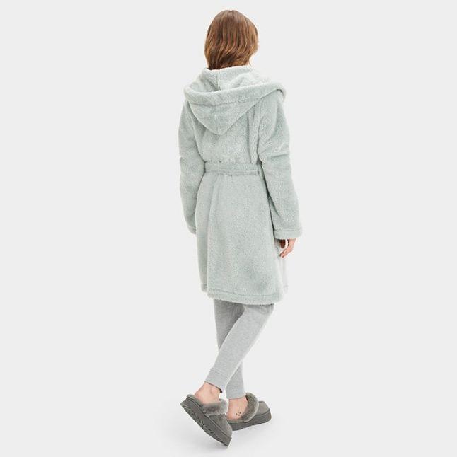 Womens Sidewalk Aarti Hooded Sherpa Robe