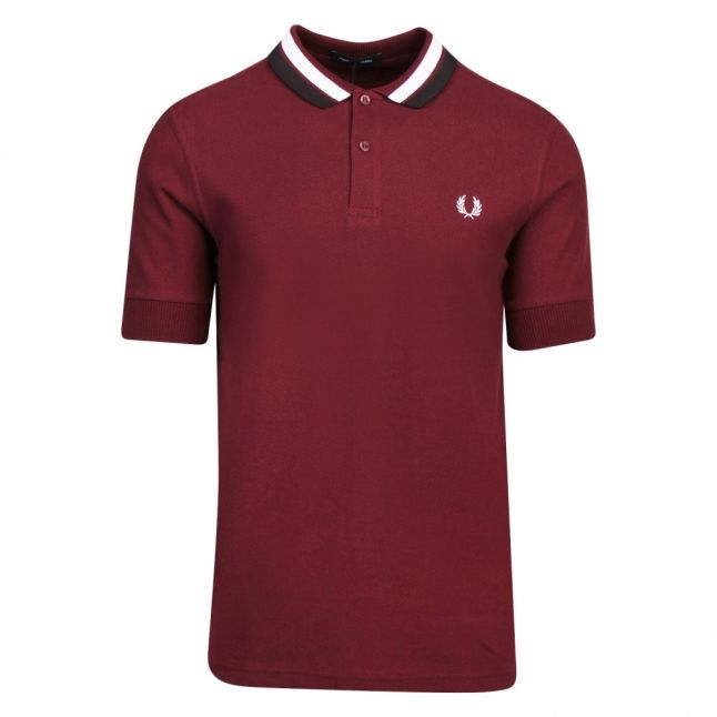 Mens Mahogany Bold Tipped S/s Polo Shirt