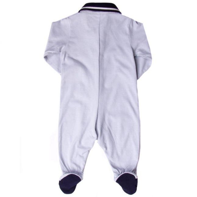 Baby Pale Blue Polo Shirt Babygrow