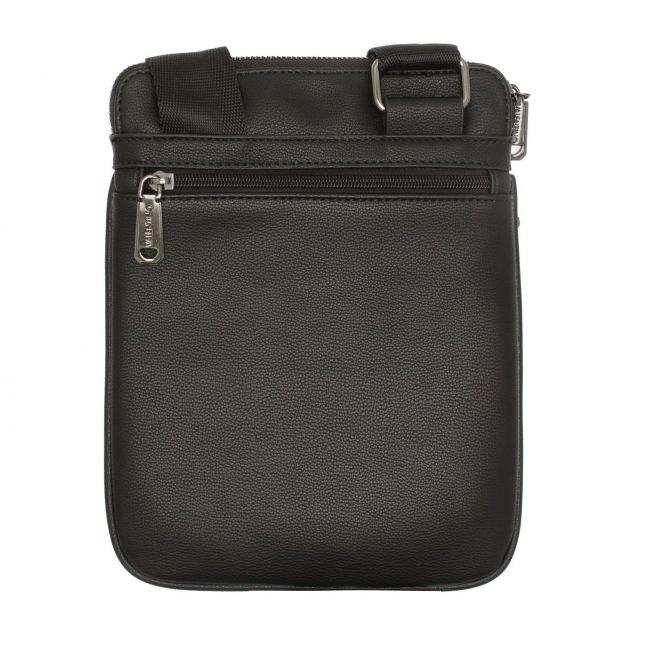 Valentino by Mario Valentino Mens Black Finn Smooth Crossbody Bag