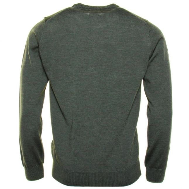 Mens Evergreen Mullen Merino Crew Knitted Jumper