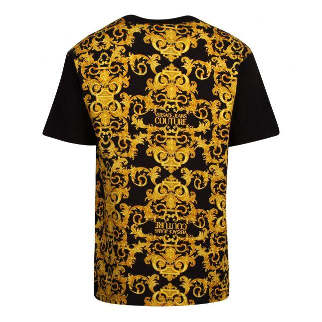 Mens Black Baroque Contrast Regular Fit S/s T Shirt