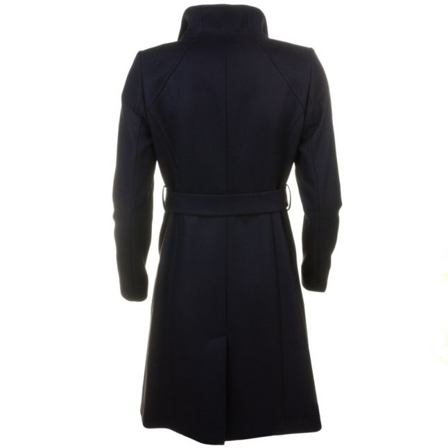 Womens Jet Afina Contrast Lapel Long Wrap Coat