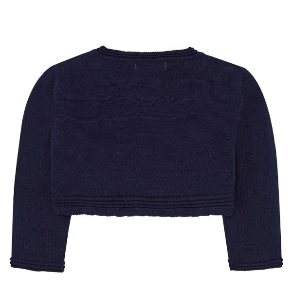 Infant Navy Bow Knitted Cardigan