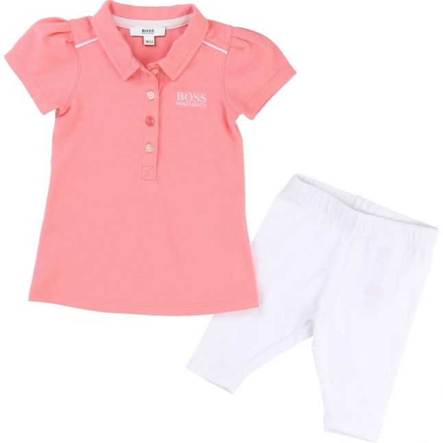 Baby Pink Polo & Leggings Outfit