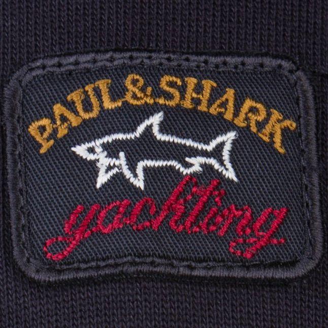 Paul & Shark Mens Black Shark Fit Sweat Top