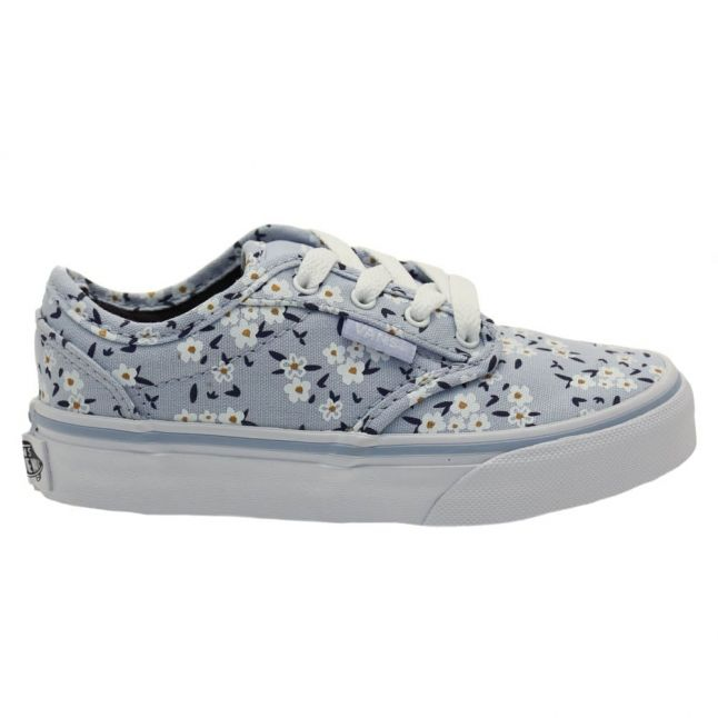 Youth Light Blue Atwood Flower Trainers (10-5)