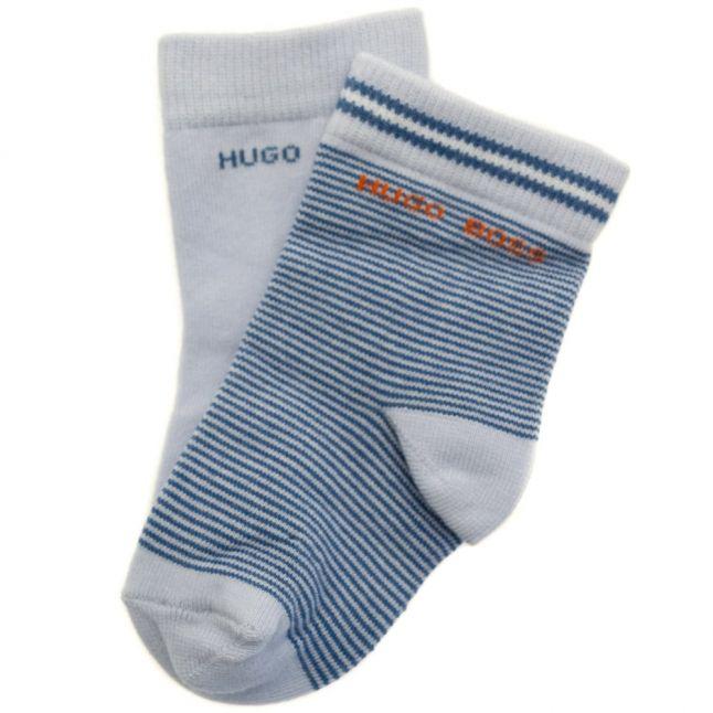 Baby Pale Blue 2 Pack Branded Socks (17-25)