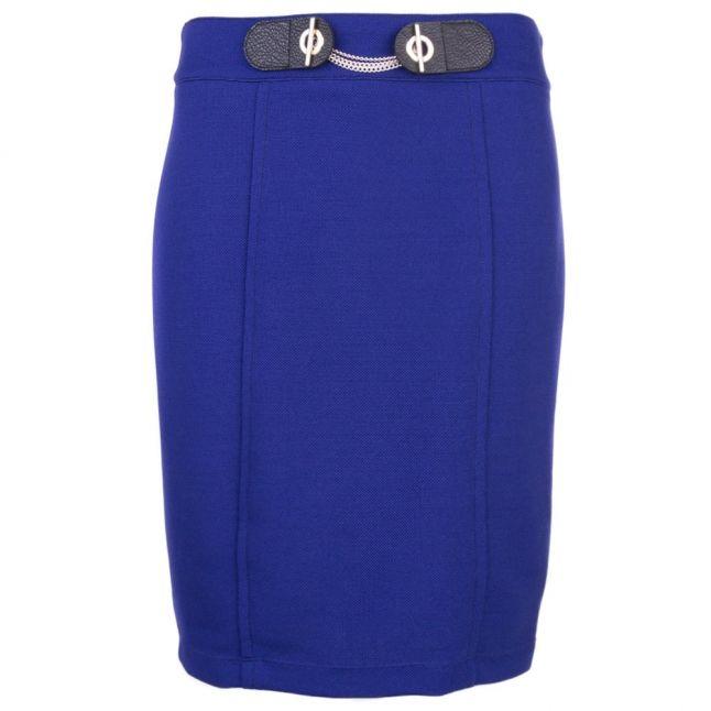 Womens Sea Water Blue Chain Detail Skirt