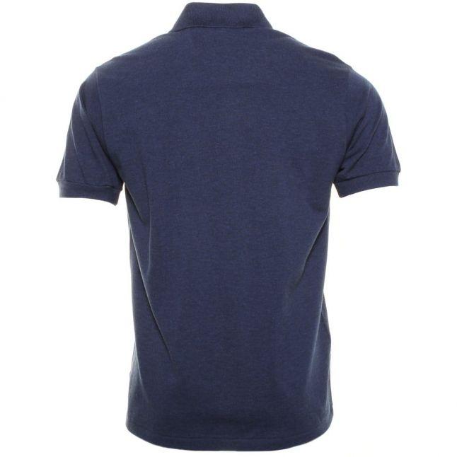 Mens Midnight Blue Classic Marl Regular Fit S/s Polo Shirt