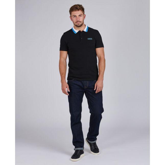 Mens Black Ampere S/s Polo Shirt